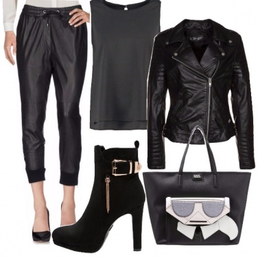 Outfit Autunno black bikers