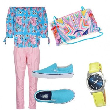 Outfit Estate arcobaleno