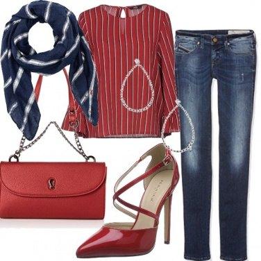 Outfit A cena fuori, in jeans e stiletto