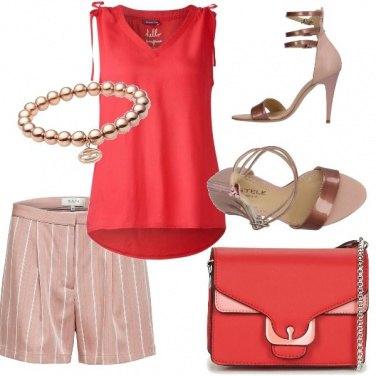 Outfit Bermuda e tacco