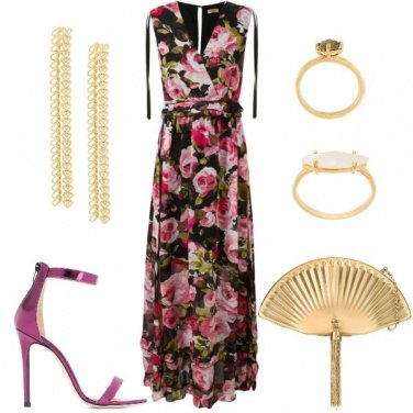 Outfit Cerimonia in Maxi Dress