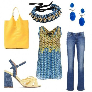 Outfit Denim e giallo