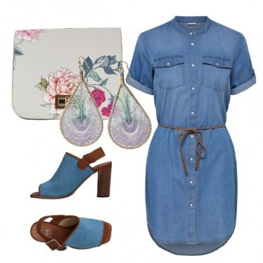 Outfit Denim dress