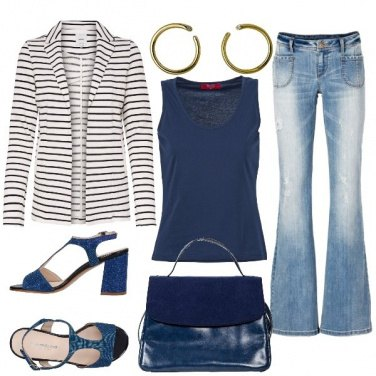 Outfit Sandali e jeans