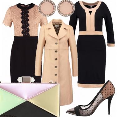 Outfit Due abiti ed un cappotto griffato.