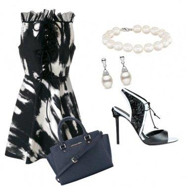 Outfit Riflessi di bianco e nero