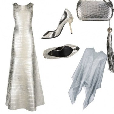 Outfit Silver-grey wedding