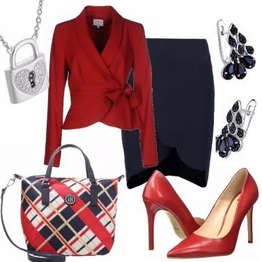 Outfit In rosso e blu