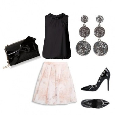 Outfit Nero e cipria con classe