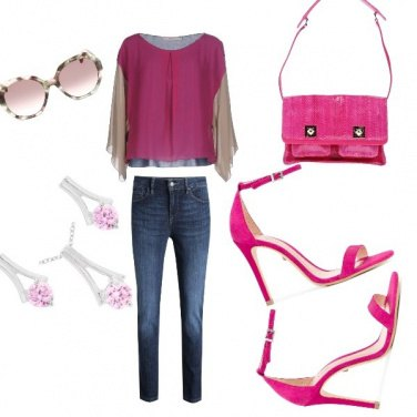Outfit Total fucsia