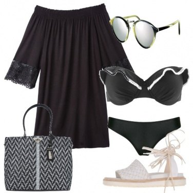 Outfit Black to the sea