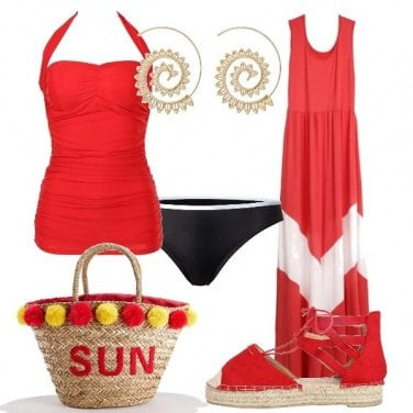 Outfit Rosso Sun