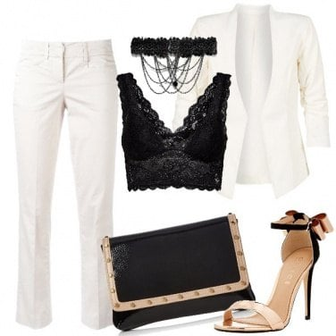 Outfit Elegante e sexy in tailleur bianco
