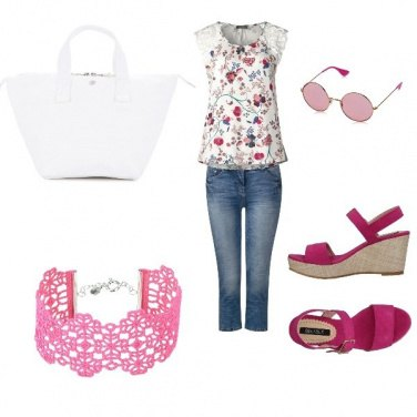 Outfit Estate in rosa