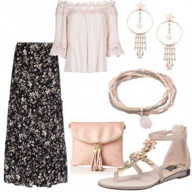 Outfit Boho in rosa