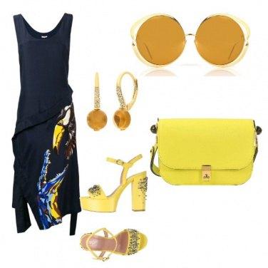 Outfit Giallo e blue