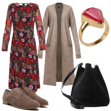 Outfit Autunno fiorito