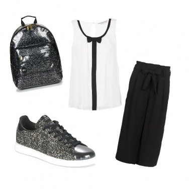 Outfit Elegante e comodo in black and white