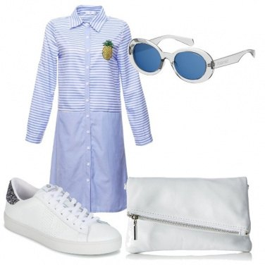 Outfit Pochette e sneakers