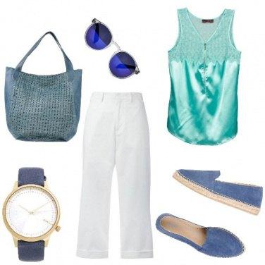 Outfit Competizione, turchese con tinte azzurre