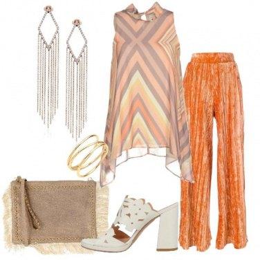 Outfit Pantalone plissé e top