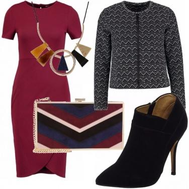 Outfit Tubino bordeaux