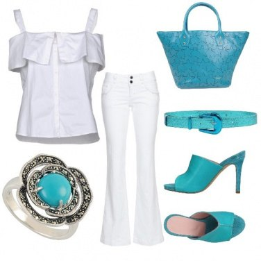 Outfit Turquoise, mon amour