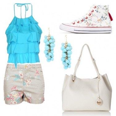 Outfit Le converse a fiori