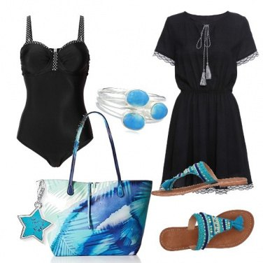 Outfit Spiaggia turchese