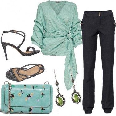 Outfit Verde soft per una cena fuori