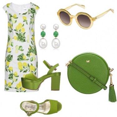 Outfit Limoni e zeppe