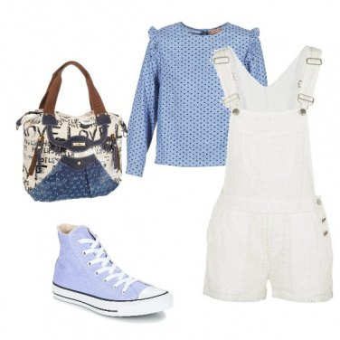 Outfit Jumpsuit corta con ricami