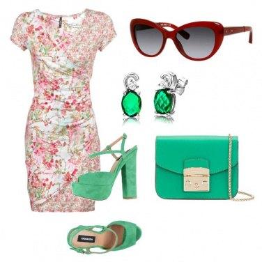 Outfit Fiori e smeraldo