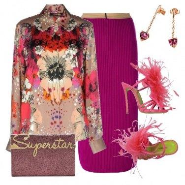 Outfit Piume e stiletto