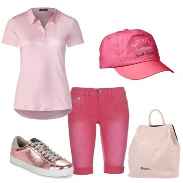 Outfit Sportiva in rosa