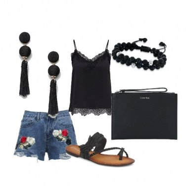 Outfit Denim shorts