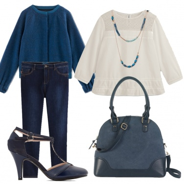 Outfit Blue&white
