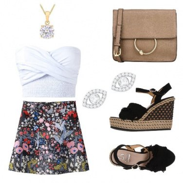 Outfit Gonnellina a fiori