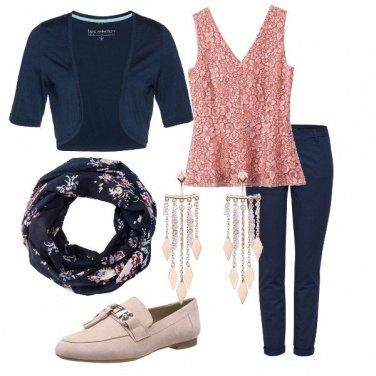 Outfit In ufficio, rose&blue