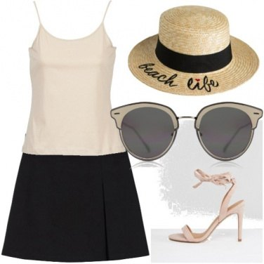Outfit Chic panna nero