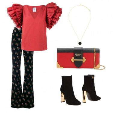 Outfit Black &Red.