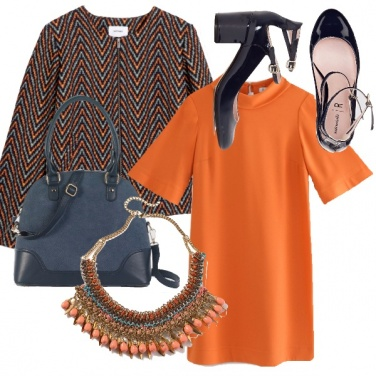 Outfit Orange-navy