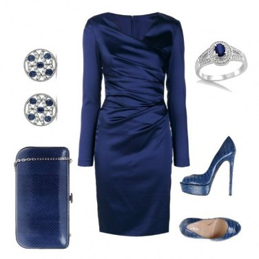 Outfit Blu elegante