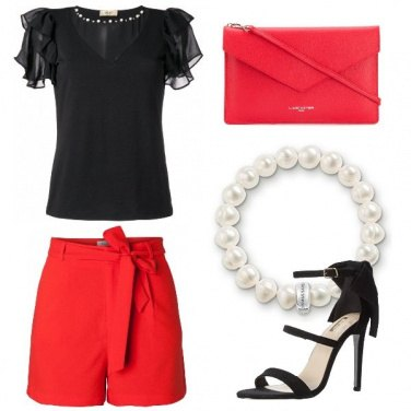 Outfit Serata in shorts