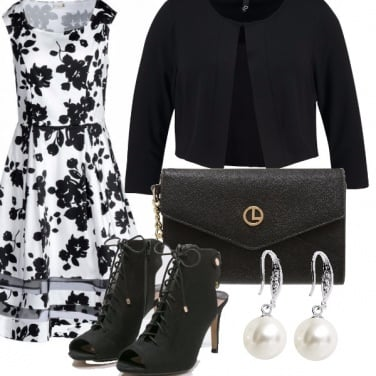 Outfit Black flowers