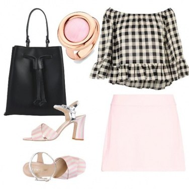 Outfit Rosa baby e nero