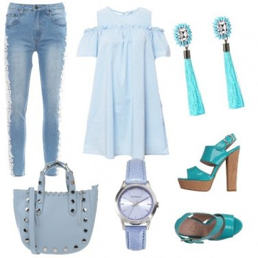 Outfit In turchese....