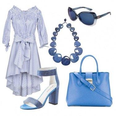 Outfit Il fiocco e le righe