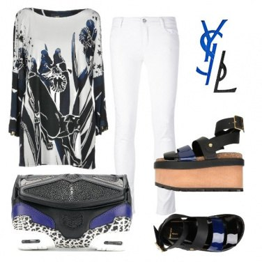 Outfit Skinny bianco