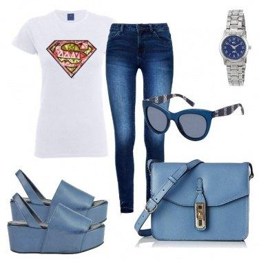 Outfit Sandali e borsa coordinati